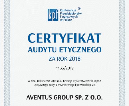 Certyfikat Audytu Etycznego KPF